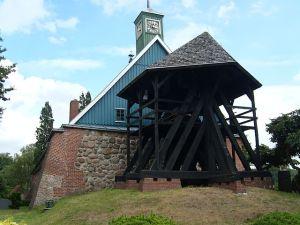 St Marien's Church where Heinrich Oehlers was baptised, in Heiligenstedten, Germany.
