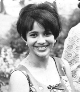 "Ann Oehlers nee Ebert, in 1965 when she was 15 years old. ""This photo is meant to emphasise my Sri Lankan features.  A lot of us Eurasians like to emphasise our Europeaness. I'm boasting my Sri Lankan smile!"""
