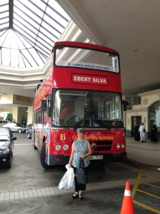 """I couldn't resist a photo in front of the big, red bus displaying the name 'Ebert.' I was delighted an enterprising namesake was running a business in the burgeoning Sri Lankan tourist market."""