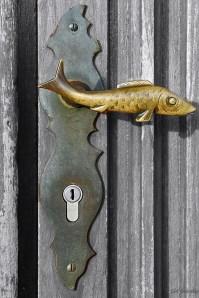 Door handle of St. Marien's church. PHOTO CREDIT: TRINA