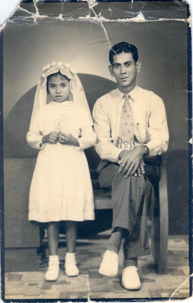 Harry Alphonso Maria De Silva with daughter Maude De Silva