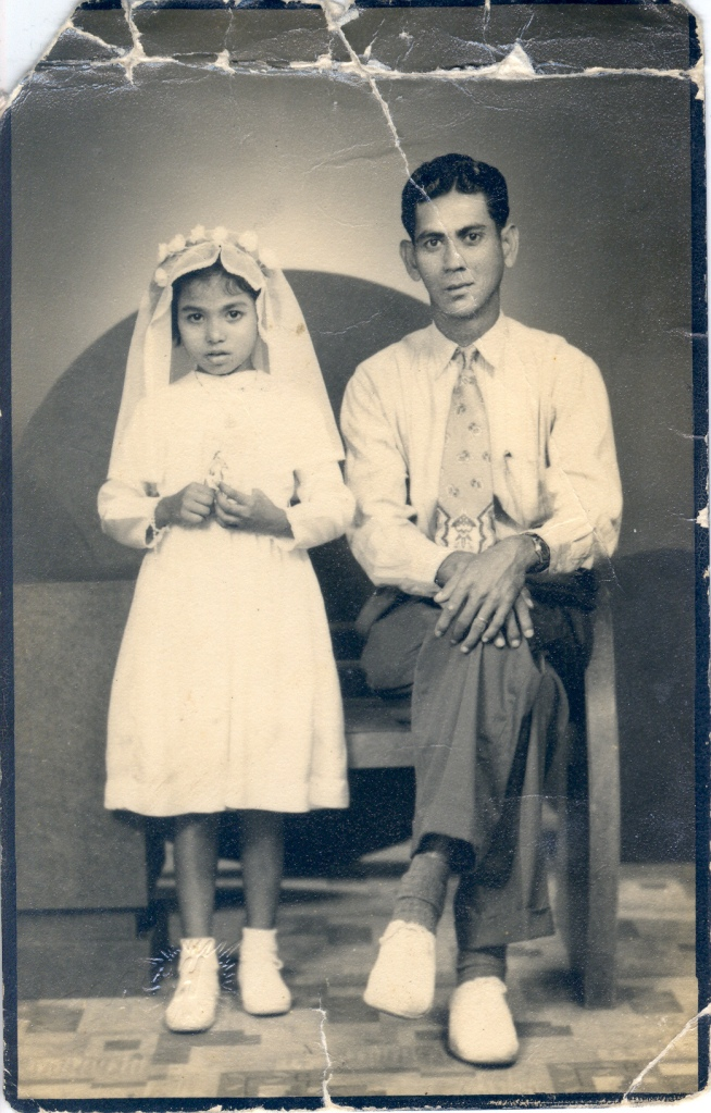Harry Alphonso Maria De Silva with daughter Maude De Silva