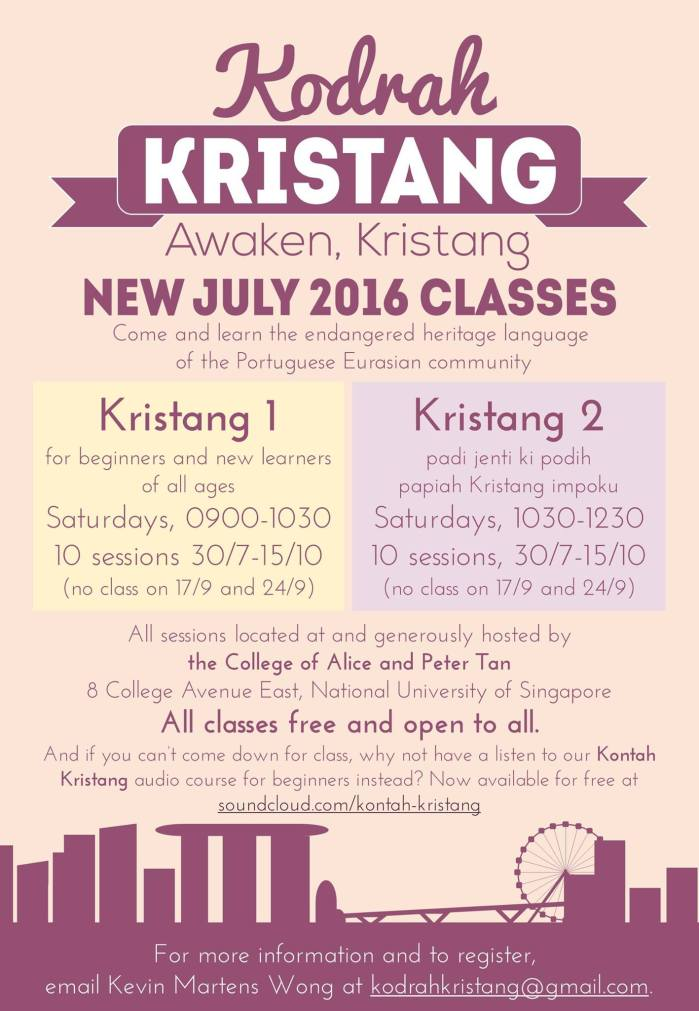 Kristang classes July 2016