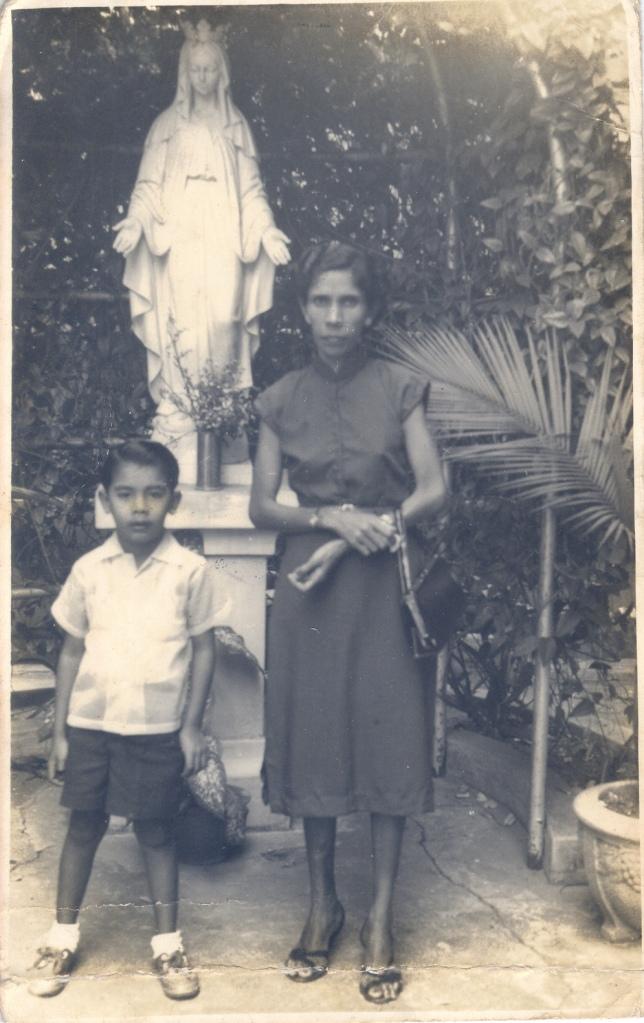 Patsy Pinto with son Gordon Pinto